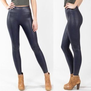 Spanx Faux Leather Legging Midnight Navy I Size S